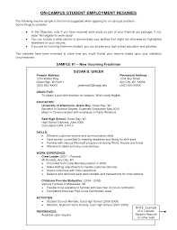 resume template write a resume objective sample write effective   resume template student employment sample resume for objective education and activities or work experience