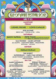 Line Up - <b>Isle</b> of Wight Festival