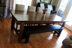 dining room set bench tables
