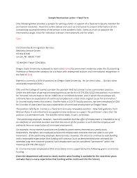 sample recommendation letter for award nomination recommendation format self recommendation letter peter