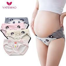 YATEMAO 4Pcs/Lot Hot Sale Maternity <b>Panties</b> Cotton <b>Pregnant</b> ...