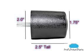 ProFurnitureParts 2.5 <b>Inch Round Sofa Legs</b> in Black Color Sold as ...