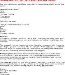 Job Resume Job Cover Letter Receptionist Front Desk Receptionist No  Experience No Experience Cover Letter No