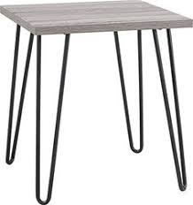 altra furniture owen retro end table with sonoma oak finish and gunmetal gray metal legs altra amazoncom altra furniture ryder apothecary