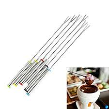 SODIAL 6PCS/Set <b>Stainless Steel Chocolate Fork</b> Hot Pot Forks ...