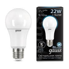 Светодиодная <b>лампа Gauss LED A70</b> 22W E27 4100K ...