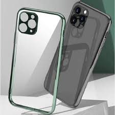 Clear Plating <b>Camera Lens Protection Case</b> For iPhone SE2020 12 ...