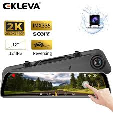 EKLEVA Backup Camera <b>12 2K</b> Upgrade Mirror Dash Cam 170 ...