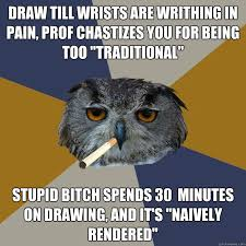 Draw till wrists are writhing in pain, prof Chastizes you for ... via Relatably.com