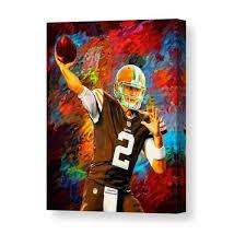 <b>Johnny</b> Manziel Cleveland Browns Football <b>Art Painting Canvas</b> ...