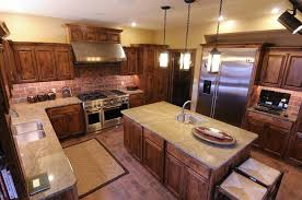 unique ideas for kitchen with brick backsplash awesome kitchen decoration with brown teak wood kitchen awesome kitchen cabinet