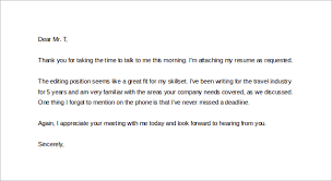Sample Thank You Letter After Phone Interview - 12+ Free Documents ... Thank You Letter after Phone Interview