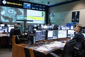 NASA Reveals the Unknown in        NASA Expedition    flight controllers in the Johnson Space Center     s Mission Control watch over the undocking of