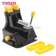 universal vacuum suction bench vice locksmith tools pliers 360 degree aluminum alloy diy practice lock folder