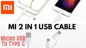 Unboxing !! <b>Mi 2-In-1 USB Cable</b> - Micro USB to Type C. - YouTube