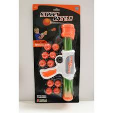<b>1 Toy Игрушечное оружие</b> Street Battle с мягкими шариками 10 шт ...
