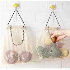 Fruit And Vegetable Storage <b>Bag Mesh Grocery</b> Shopper <b>Tote</b> ...
