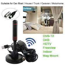 <b>30dBi Indoor</b> Gain <b>Digital</b> DVB-T/FM Freeview Aerial Antenna PC for ...