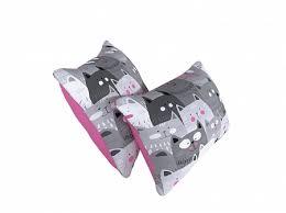 <b>Большая подушка</b> Отто - 60x60 (Симпл Коты 1/Симпл Розовый ...