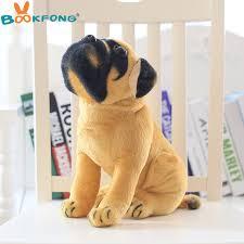 BOOKFONG <b>Lovely Simulation</b> Squat Pug <b>Dog Plush Toy Cute</b> ...