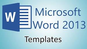 microsoft word 2013 tutorials document templates