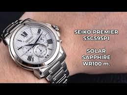 <b>Мужские часы Seiko</b> Premier Solar SSC595P1 - YouTube