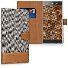 <b>Flip Cases</b> Electronics Fabric Faux Leather Cover with <b>Card Slots</b> ...