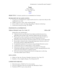 executive assistant resume sample free cover letter examples of resumes for administrative positions