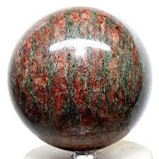 "Large 3.75"" 3.6lb Garnet Sphere Red <b>Green</b> Almandine <b>Natural</b> ..."
