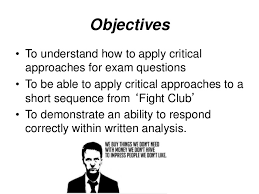 Fight club crit approaches