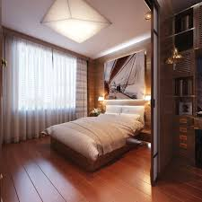 inspiring bedroom design ideas with warm recessed lighting and cool art wall painting above wooden single bedroom recessed lighting design ideas light