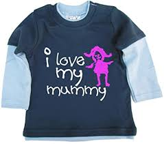 Dirty Fingers, I Love My <b>Mummy</b>, Baby Unisex <b>Skater</b> Top: Amazon ...