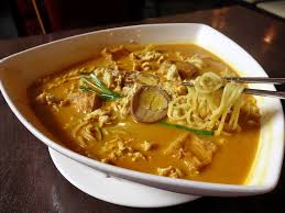 singapore curry ramen with rice