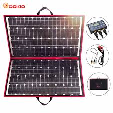 <b>Dokio</b> 18V <b>100w</b> Solar Panel <b>12V</b> Flexible Foldble Solar Charge ...