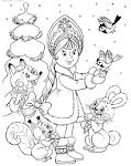 Раскраска новогодняя тема