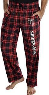<b>Marvel</b> Comics Men's <b>Spider</b>-<b>Man</b> Logo Plaid Lounge Pants ...