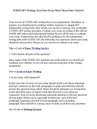 preparatório toefl nashville docshare tips toefl ibt writing does your essay meet these four criteria