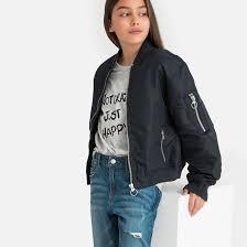 <b>Куртка</b>-<b>бомбер</b> короткая, 10-16 лет синий морской <b>La Redoute</b> ...