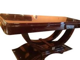 table artdeco double lyre rosewood 180 x 105 plus 2 elongated 50 art deco dining room table