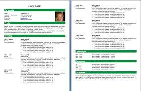 kies je layout cv opmaat cv voorbeeld 2 groen