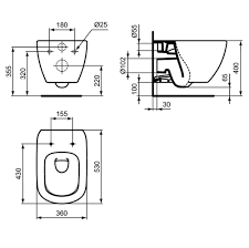 Инсталляция Ideal Standard TESI с унитазом, сиденьем, кнопкой