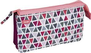 <b>Milan Пенал</b>-косметичка Geo Girl цвет розовый зеленый бордовый