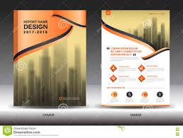 orange cover annual report brochure flyer template creative stock orange cover annual report brochure flyer template creative