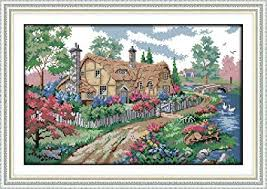 Joy Sunday Cross Stitch Kits, Country Cabin Pattern ... - Amazon.com