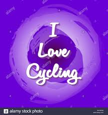 White <b>lettering - I</b> Love Cycling. Fantasy background in <b>fashionable</b> ...