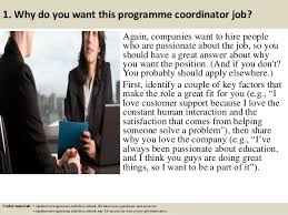 Top 10 programme coordinator interview questions and answers