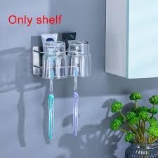 <b>Non</b>-<b>perforated Bathroom Shelf</b> Wall Mounted Toothpaste Portable ...
