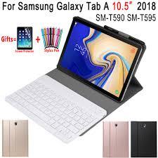Removable <b>Bluetooth Keyboard Leather Case</b> for Samsung Galaxy ...