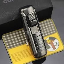<b>COHIBA</b> Black 4 Red <b>Torch Jet</b> Fire Windproof <b>Cigar</b> Lighter Classic ...