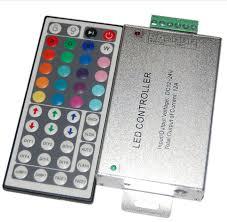 Infrared RGBW Controller 44keys <b>DC12V</b> 24V <b>12A 3</b> Dimmers RGB ...